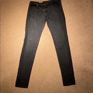 Faded black AG Skinny Jeans Size 28R